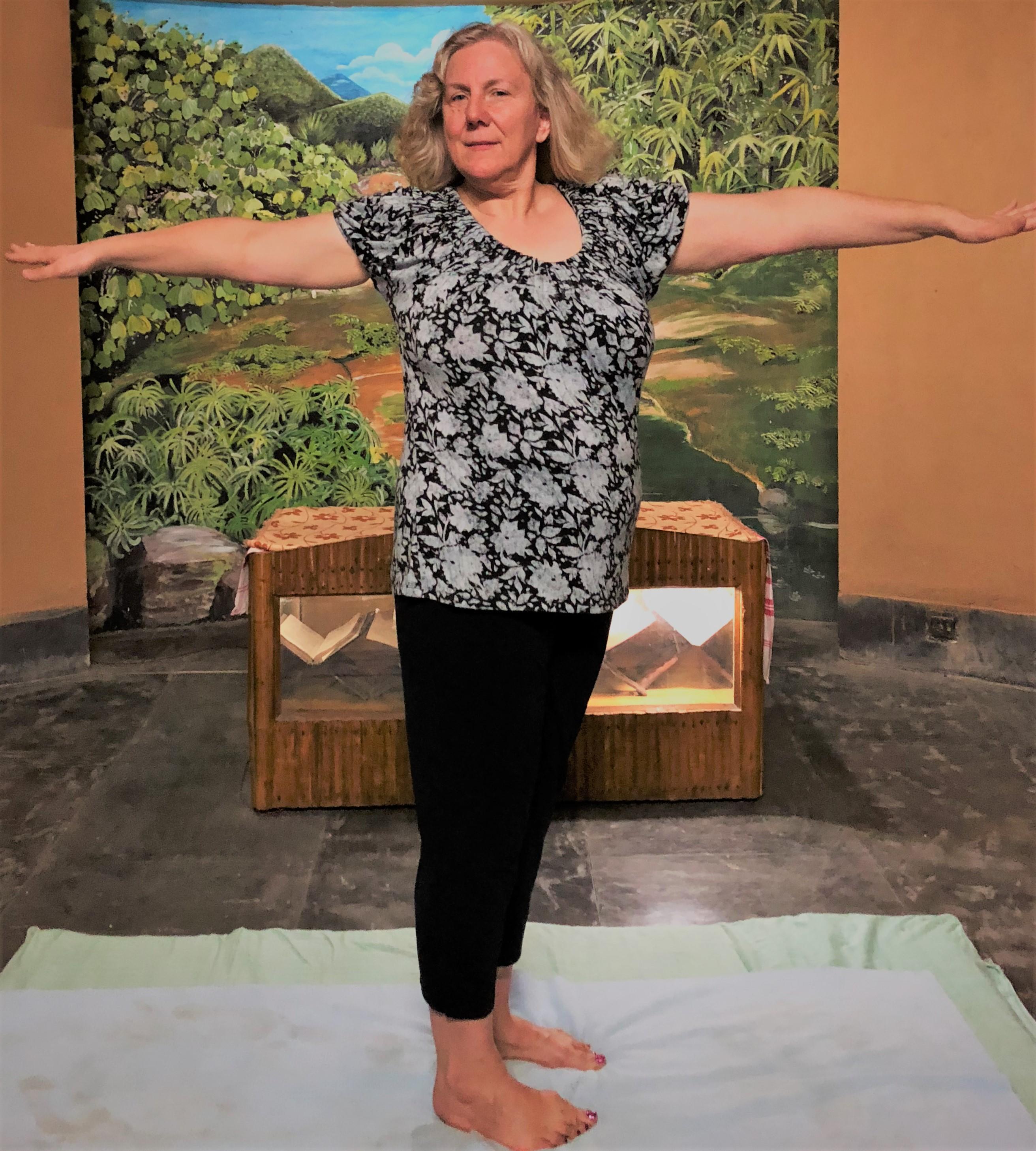 Morning yoga twist